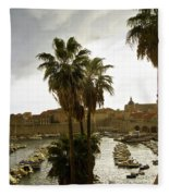 Dubrovnik View 6 Fleece Blanket