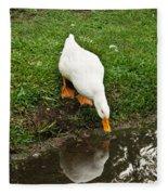Duck And Refection Fleece Blanket