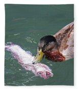 Duck Fishing Fleece Blanket