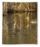 Duck Ripples Fleece Blanket