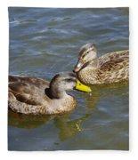 Ducks In The Sun Fleece Blanket
