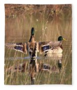 Ducks Of Douglas Fleece Blanket