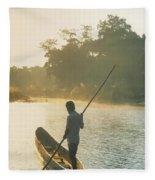 Dugout Boat Fleece Blanket