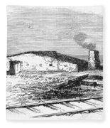 Dugout Home, 1871 Fleece Blanket