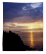 Dunluce Castle At Sunset, Co Antrim Fleece Blanket