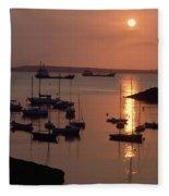 Dunmore East, Co Waterford, Ireland Fleece Blanket