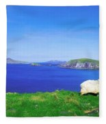 Dunmore Head, Blasket Islands, Dingle Fleece Blanket