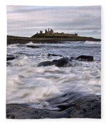 Dunstanburgh Castle Iv Fleece Blanket