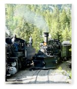 Durango Silverton Steam Locomotive Fleece Blanket