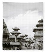 Durbar Square Patan Fleece Blanket