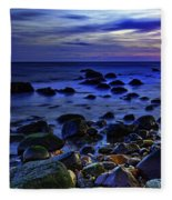 Dusk At Montauk Point Fleece Blanket