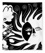 Dusk Dancer - Inverted Fleece Blanket