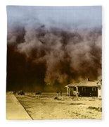 Dust Storm, 1930s Fleece Blanket