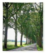 Dutch Road - Digital Painting Fleece Blanket