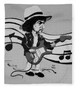 Dylan In Black And White Fleece Blanket
