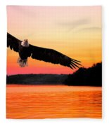 Eagle At Break Of Dawn Fleece Blanket