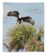 Eagle In The Palm Fleece Blanket