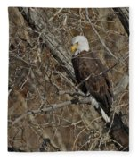 Eagle In Tree 3 Fleece Blanket