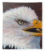 Eagle Study Fleece Blanket