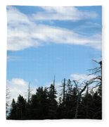 Eagles Nest Lake Tahoe Fleece Blanket