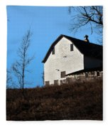 Early Morning Barn Fleece Blanket