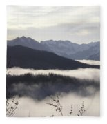 Early Morning Fog Fleece Blanket