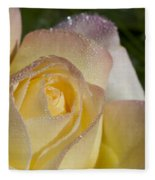 Early Morning Peace Rose Fleece Blanket