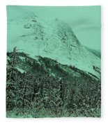 Early Snow In The Mountains  Fleece Blanket