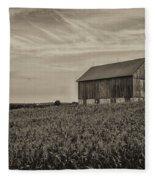 Ears In The Field Fleece Blanket
