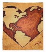 Earth Day Gaia Celebration Digital Art Fleece Blanket