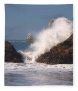 Earth Vs. Water Fleece Blanket