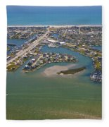 East Coast Aerial Fleece Blanket