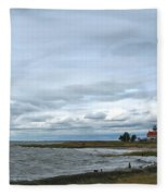 East Point Light Still Shines  Fleece Blanket
