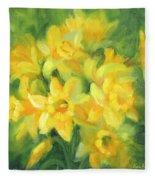 Easter Daffodils Fleece Blanket