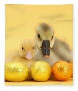 Easter Duckling And Gosling Fleece Blanket