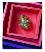 Easter Egg In Pink Box Fleece Blanket