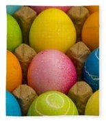 Easter Eggs Carton 2 A Fleece Blanket