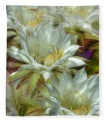 Easter Lily Cactus Bouquet Hdr Fleece Blanket