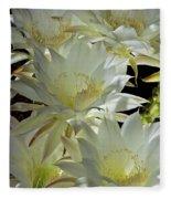 Easter Lily Cactus Bouquet Fleece Blanket