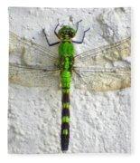 Eastern Pondhawk Dragonfly Fleece Blanket