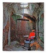 Eastern State Penitentiary Barber Shop Fleece Blanket