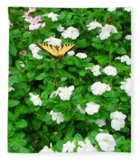 Eastern Tiger Swallowtail Fleece Blanket