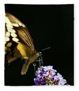 Eastern Tiger Swallowtail Butterfly On Butterfly Bush Fleece Blanket