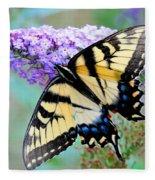 Eastern Tiger Swallowtail On Butterfly Bush Fleece Blanket