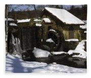 Eastern University Waterwheel Historic Place Fleece Blanket