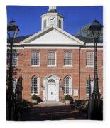 Easton Maryland Courthouse Fleece Blanket
