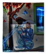 Easy Rider Mural Route 66 Fleece Blanket
