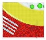 Eat Your Peas Fleece Blanket