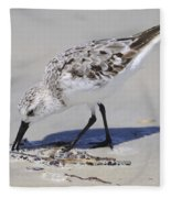 Eating At The Shore Fleece Blanket