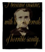 Edgar Allan Poe 2 Fleece Blanket